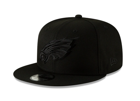 Philadelphia Eagles New Era Snapback Black on Black Hat Cap