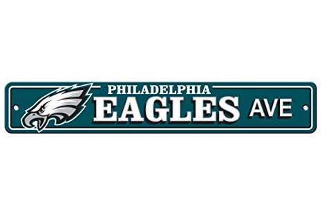 Philadelphia Eagles AVE Bar Home Decor Plastic Street Sign