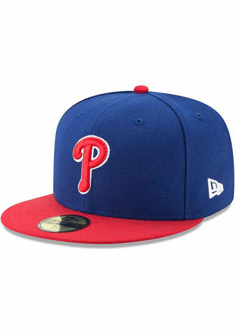 Philadelphia Phillies Fitted New Era 59Fifty Blue Red Cap Hat