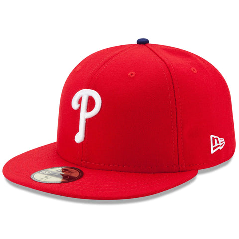 Philadelphia Phillies Fitted New Era 59Fifty On Field Red Cap Hat