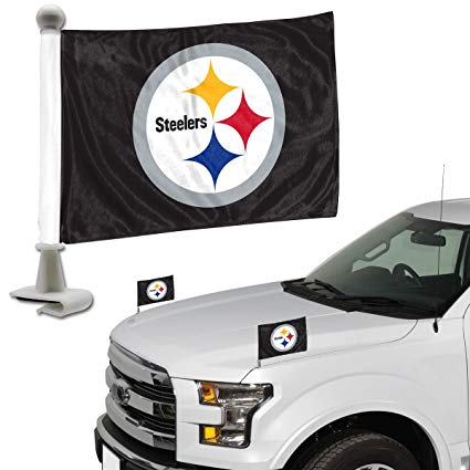 Pittsburgh Steelers Auto Ambassador Flag Set