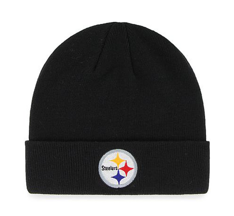 Pittsburgh Steelers Beanie New Era Basic Logo Cuffed Black Knit Hat