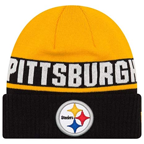 Pittsburgh Steelers Beanie New Era Chilled Cuffed Knit Hat
