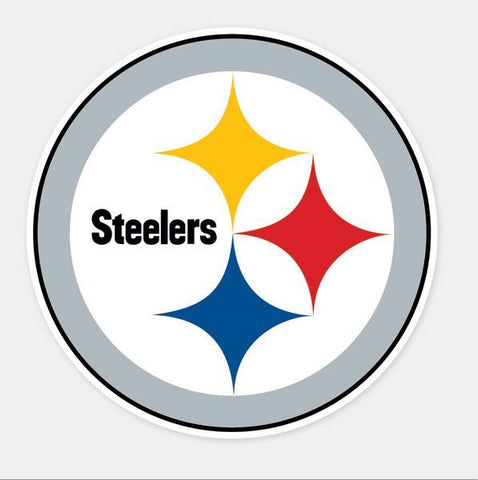 "Pittsburgh Steelers Perfect Cut Decal 12"" X 12""in"