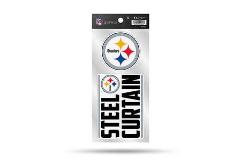 Pittsburgh Steelers Double Up Die Cut Sticker 2pc