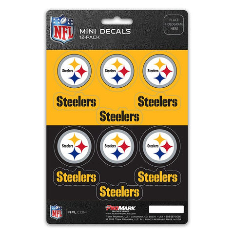 Pittsburgh Steelers Decal Set Mini 12 Pack