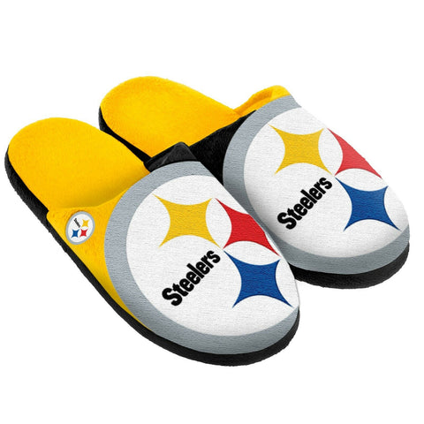 Pittsburgh Steelers Men's XL Logo Slide Slippers
