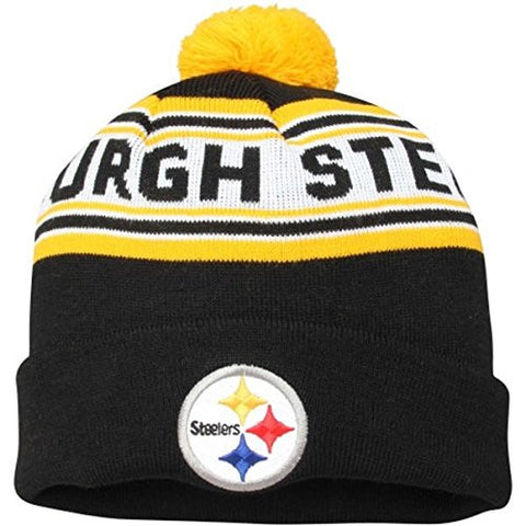 Pittsburgh Steelers Beanie Kids (4-7) Pom Cuff Knit Hat