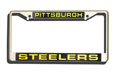 Pittsburgh Steelers Laser Chrome License Plate Frame
