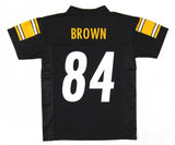 Pittsburgh Steelers Youth #84 Brown 8-20 Black Name & Number Jersey