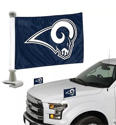Los Angeles Rams Auto Ambassador Flag Set