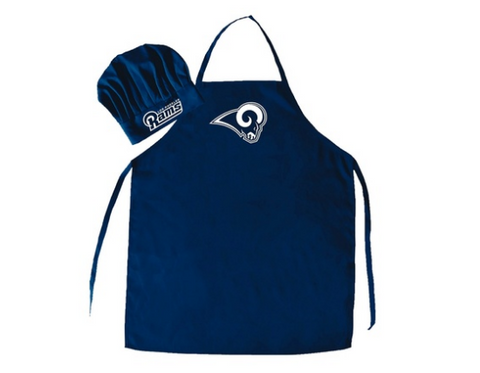 Los Angeles Rams Cooking Apron and Chef Hat Set 2-Piece