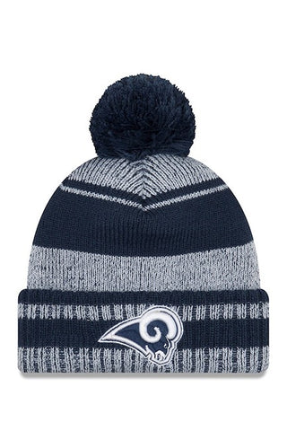 Los Angeles Rams Beanie New Era Glacial Knit Pom