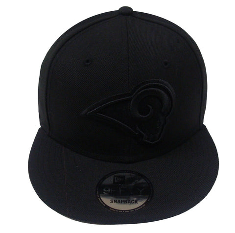 Los Angeles Rams Snapback New Era 9Fifty Black on Black Cap Hat