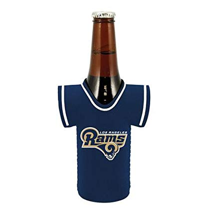 Los Angeles Rams Bottle Jersey Can Cooler Kaddy Holder