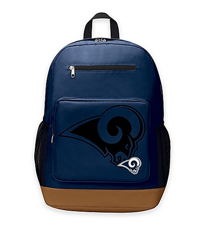 Los Angeles Rams Backpack Playmaker by Northwest Blue