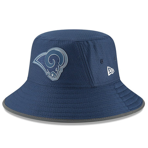 Los Angeles Rams Bucket New Era 2018 Training Hat Navy