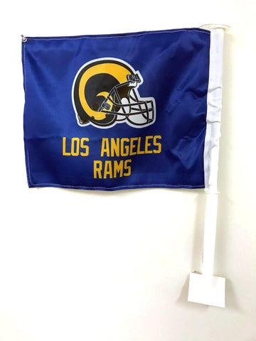 Los Angeles Rams Auto Tailgating Truck or Car Flag Logo Retro Blue