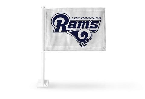 Los Angeles Rams Auto Tailgating Truck or Car Flag Logo White
