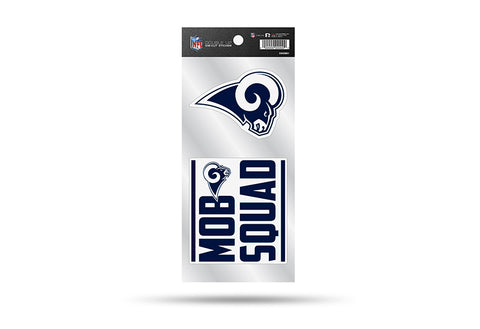 Los Angeles Rams Double Up Die Cut Sticker 2pc