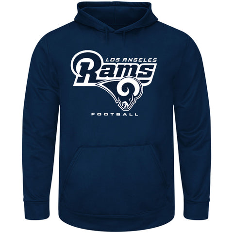 Los Angeles Rams Mens Sweatshirt Majestic Critical Victory Hooded Navy