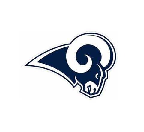 "Los Angeles Rams Perfect Cut Decal 12"" X 12""in"