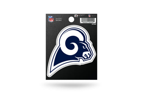 Los Angeles Rams Small Sticker Short Sport Set of 2 White