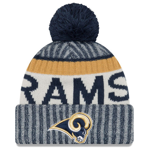 Los Angeles Rams New Era 2017 Sideline Official Sport Knit Hat