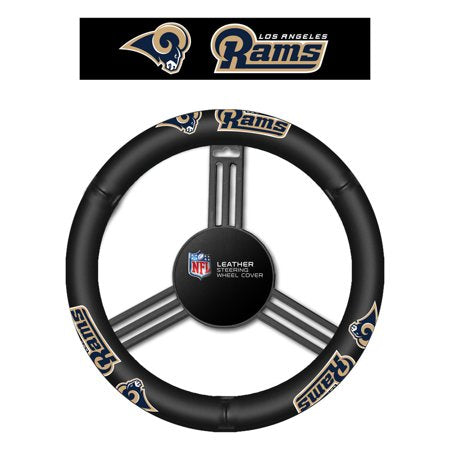 Los Angeles Rams Auto Leather Steering Wheel Cover