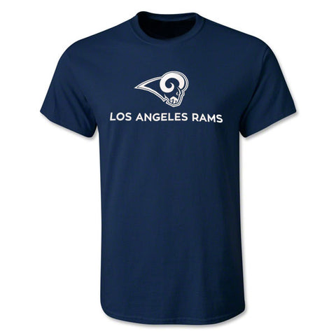 Los Angeles Rams Mens T-Shirt Fanatics Lockup Navy
