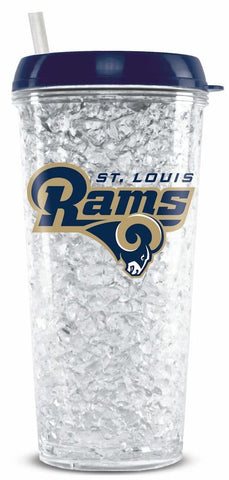 Los Angeles Rams 16oz Crystal Freezer Tumbler Travel Mug Cup