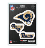 Los Angeles Rams 3-Pack Team Die-Cut Decal