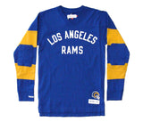 Los Angeles Rams Men's Mitchell & Ness Field Goal Long Sleeve Shirt Blue