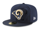 Los Angeles Rams Fitted New Era 59Fifty 2016 On-Field Cap Hat Navy