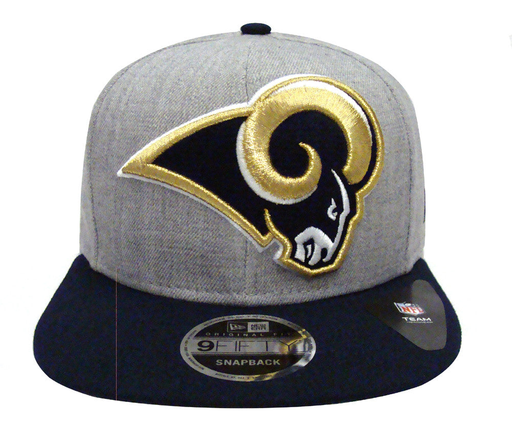Los Angeles Rams Snapback New Era OG Fit Heather Grand Cap Hat Wool Na –  THE 4TH QUARTER dc483c69bb5a