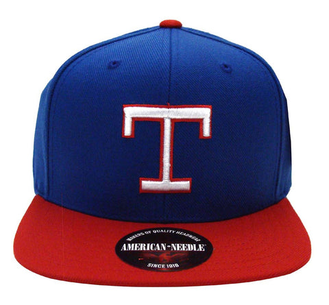Texas Rangers Snapback American Needle Replica Wool Cap Hat Blue Red