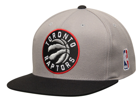 Toronto Raptors Snapback Mitchell & Ness XL Logo Grey Black Cap Hat