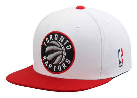Toronto Raptors Snapback Mitchell & Ness XL Logo White Red Cap Hat