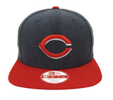 Cincinnati Reds Snapback New Era Heather Graphite Cap Hat Charcoal Red