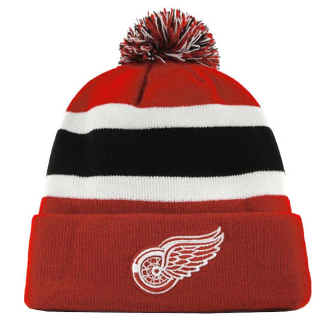 Detroit Red Wings Beanie 47 Brand Breakaway Embroidered Cap Red