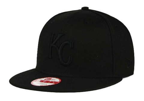 Kansas City Royals Snapback New Era 9Fifty Black on Black Cap Hat