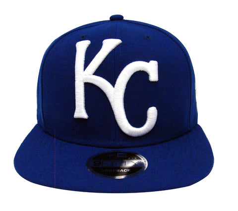 Kansas City Royals Snapback New Era Original Fit Logo Grand Cap Hat Blue