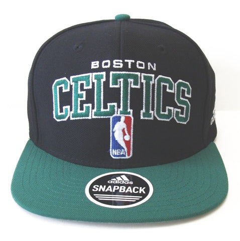 Boston Celtics Snapback Adidas Retro Draft Cap Hat Black Green