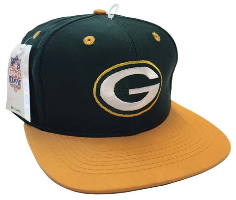Green Bay Packers Vintage Logo 7 Green Yellow 2 Tone Snapback Cap Hat