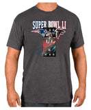 New England Patriots VS. Atlanta Falcons Mens NFL Super Bowl 51 Ticket T-Shirt