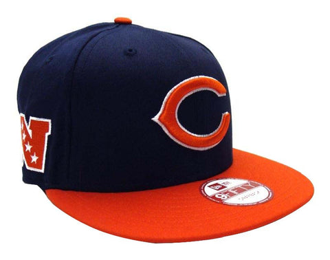 Chicago Bears New Era Baycik Snapback Cap Hat Navy Orange