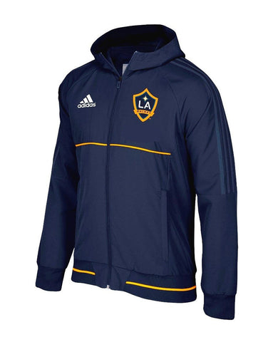 Los Angeles Galaxy Mens Adidas Anthem Full Zip Jacket Navy