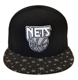 Brooklyn Nets Snapback New Era Flect Hook Cap Hat Black