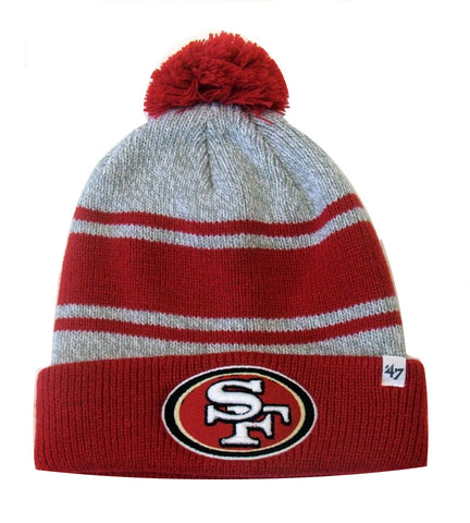 San Francisco 49ers 47 Brand Oatmeal Pom Top Cuff Knit Hat Beanie