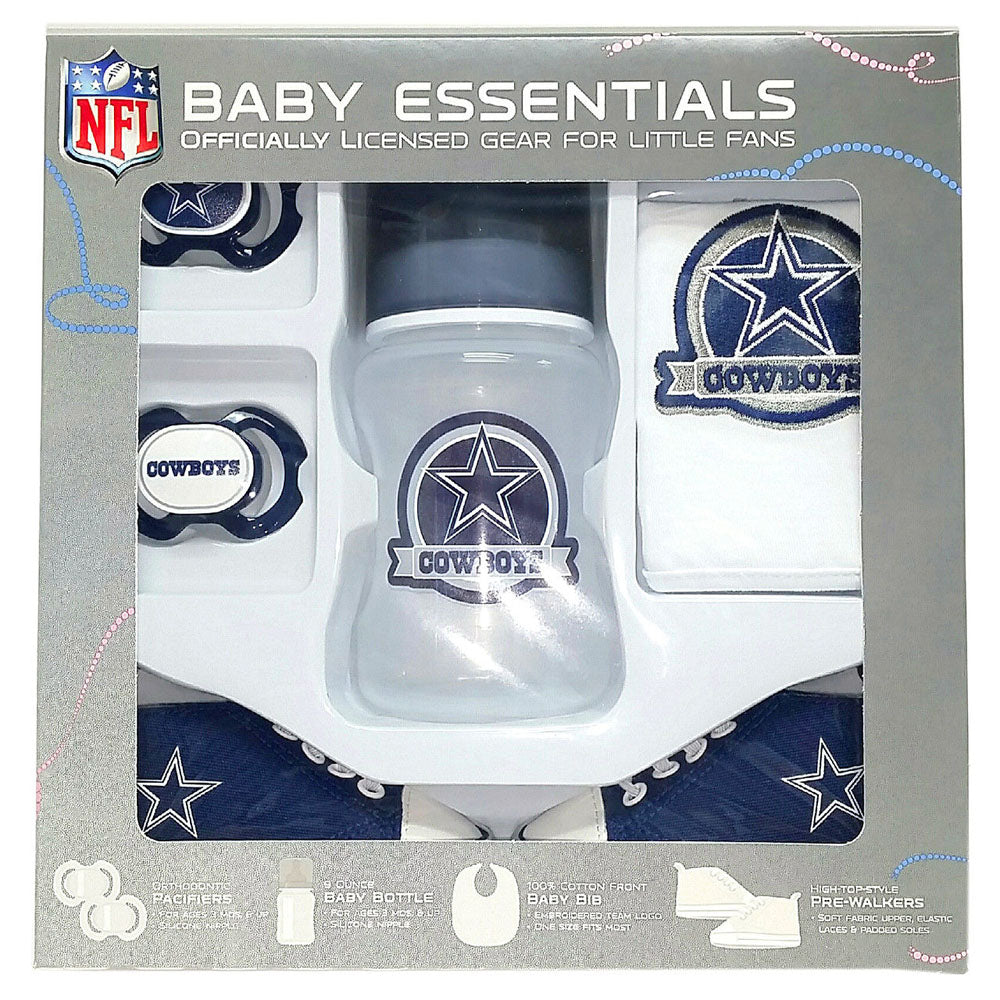 online store 55aaa c1913 Dallas Cowboys Baby Essentials 5 Piece Infant Gift Set New